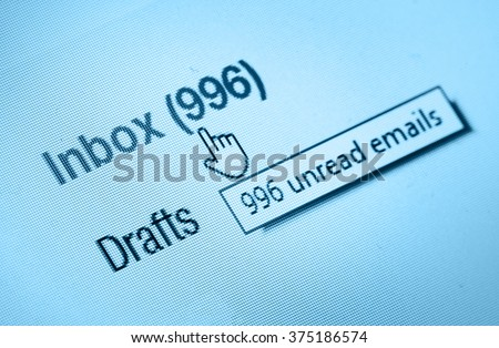 inbox - stock photo