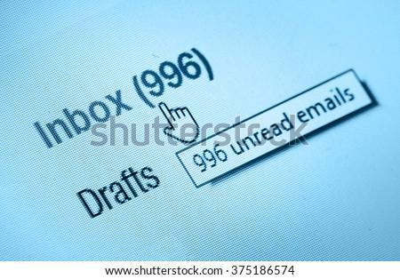 inbox - stock photo