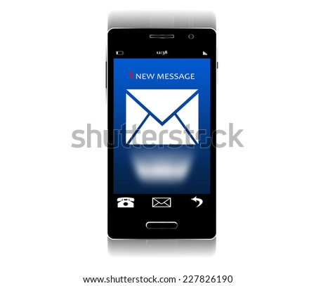 Inbox Mail Flat Concept Illustration - stock photo
