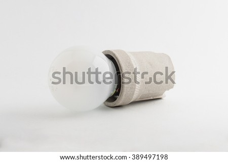incandescent bulb holder - stock photo