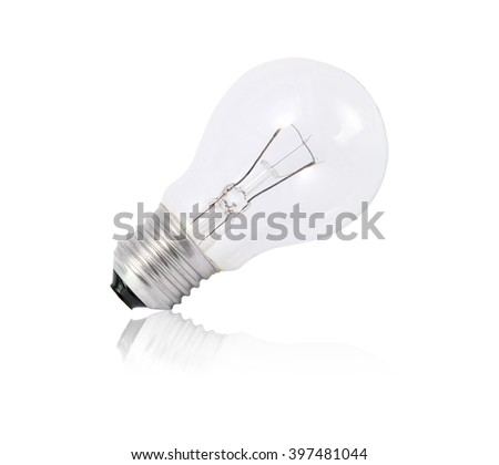 Incandescent lamp isolated on white background - stock photo