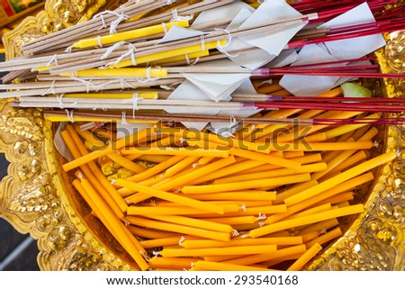 incense candle 	 - stock photo