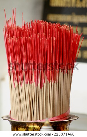 Incense for worship - stock photo