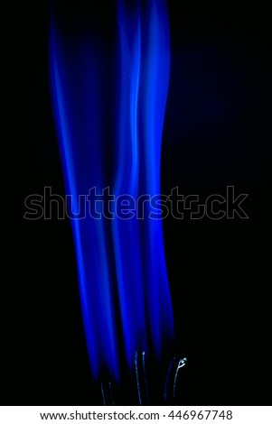 Incense smoke,Blue smoke on a Black background