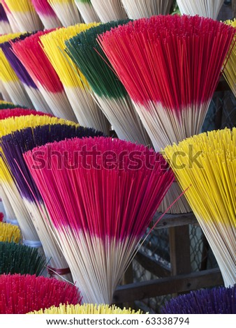 incense sticks in Hanoy market , Vietnam