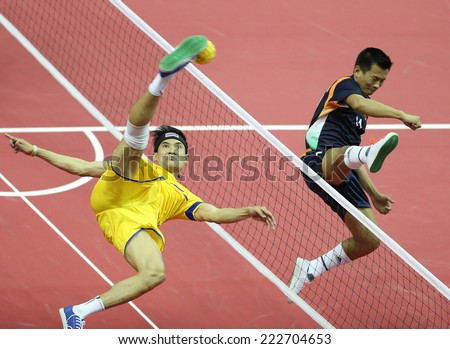 INCHEON - SEP 24:Anuwat CHAICHANA of Thailand participates in 2014 Incheon Asian Games at Bucheon Gymnasium on September 24, 2014 in Incheon, South Korea.