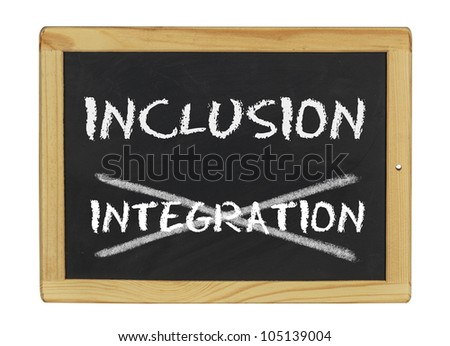 inclusion istead of integration - stock photo