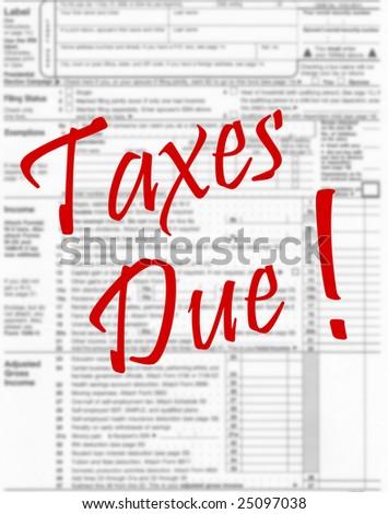 Income tax concept - stock photo