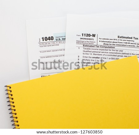 Income Tax Document - stock photo
