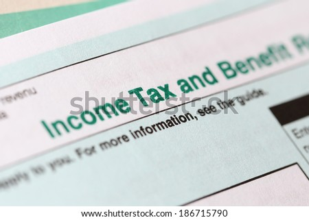 Income tax form - stock photo