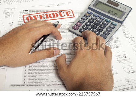 Income Taxes, Close up U.S. taxes papers