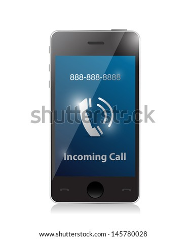 incoming call. modern smart phone illustration design - stock photo