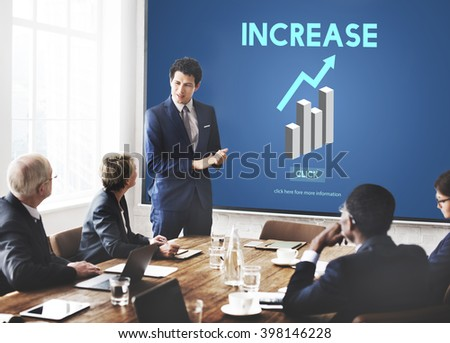 Increase Growth Rise Elevation Enlarge Expansion Concept - stock photo