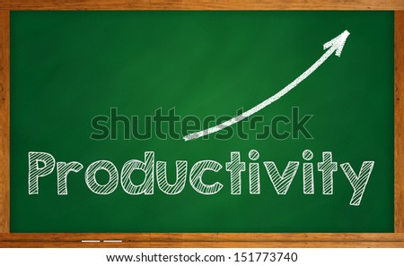 Increase in productivity - stock photo
