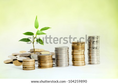 Increase investment saving money - stock photo