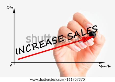 Increase sales graph - stock photo