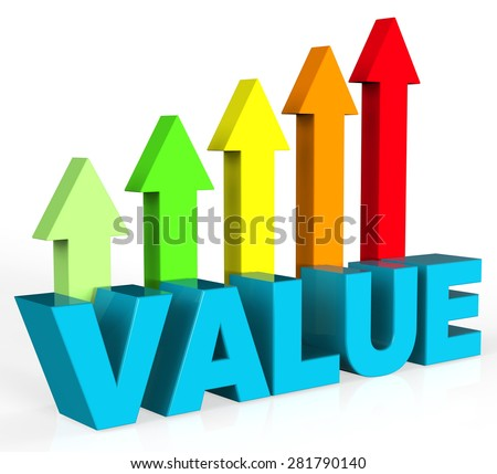 Increase Value Representing Valued Advance And Importance