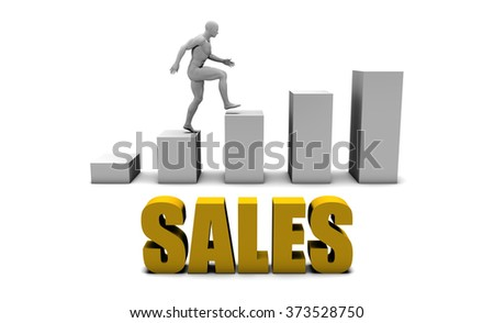 Increase Your Sales  or Business Process as Concept - stock photo
