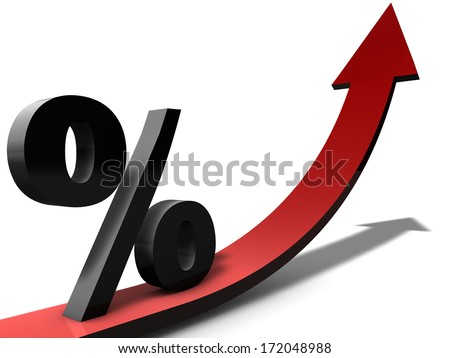 Increasing Percentage - stock photo