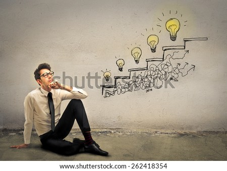 Increasing sales with new ideas  - stock photo