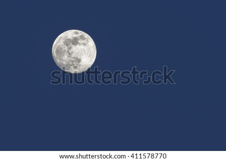 Incredible full Moon - stock photo