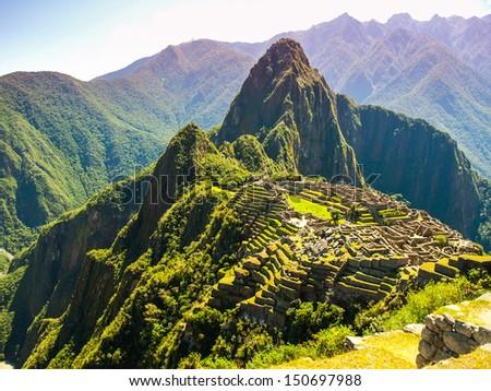 Incredible Machu Picchu - stock photo
