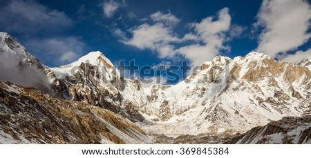 Incredible majestic mountains in Himalayas