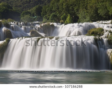 Incredible waterfalls in Krka National Park, Croatia - stock photo