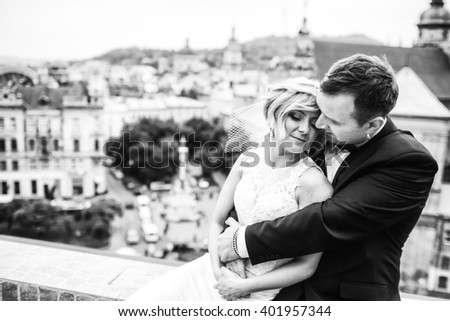 incredible young couple enjoy each other - stock photo