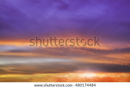 incredibly beautiful sunset, clouds at sunset, colorful sunset