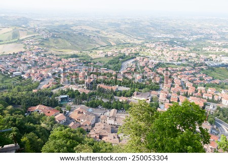Independant Republic of San-Marino - Summer Cityscape - stock photo