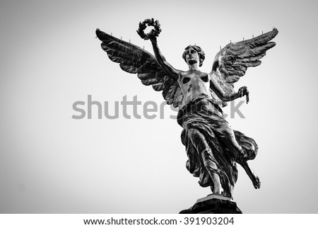 Independence Angel, Mexico City Black and White