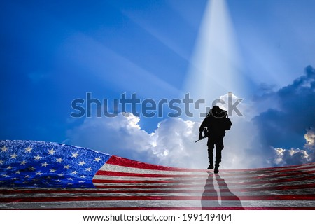 Independence Day - American Heroes - stock photo