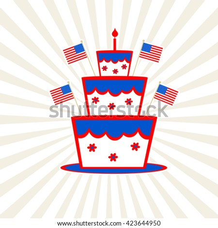 Independence Day Cake - stock photo