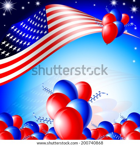 Independence day card - layout template background
