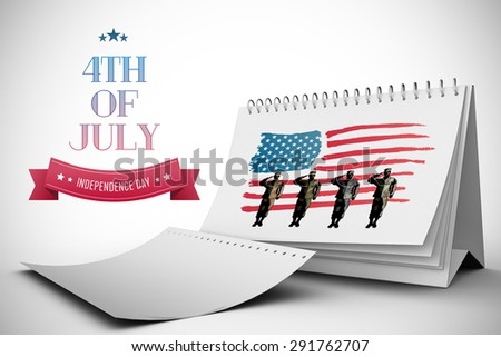 Independence day graphic against white background with vignette