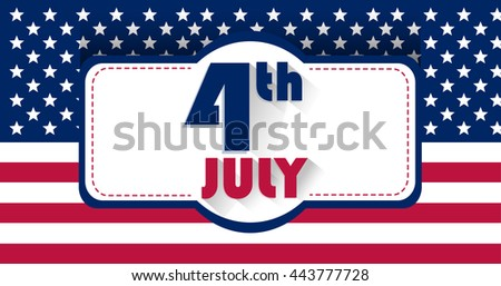 Independence Day USA. Patriotic Stock JPEG, JPG image. The 4th of July, US Flag in a background - stock photo