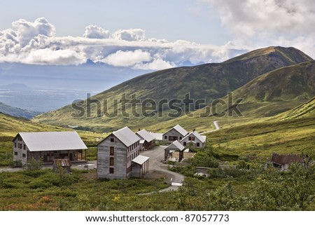 Independence Gold Mine Hatcher Pass Alaska - stock photo