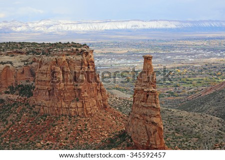 Independence Monument over Grand Junction - Colorado National Monument, Colorado