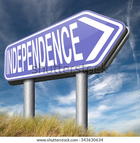 independence self sufficient or self employed independent life for the elderly disabled or young people  - stock photo