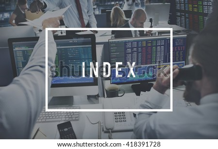 Index Business Accounting Banking Money Concept - stock photo