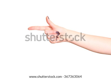 Index finger isolated on white background. - stock photo