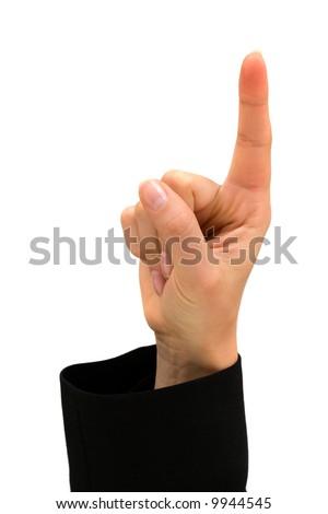Index finger isolated over white background - stock photo