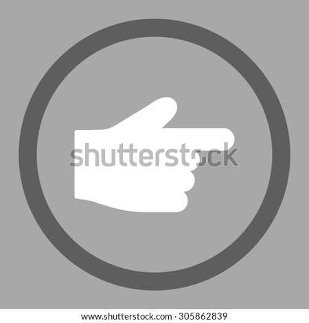Index Finger Raster Icon This Rounded Stock Illustration 305862839