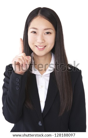 Index finger to make a woman suit