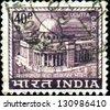 INDIA - CIRCA 1968: A stamp printed in India shows Calcutta G.P.O. (General Post Office), circa 1968 - stock photo