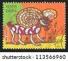 INDIA - CIRCA 2010: stamp printed by India, shows aries, circa 2010 - stock photo