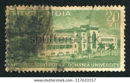INDIA - CIRCA 1969: stamp printed by India, shows Osmania University, circa 1969