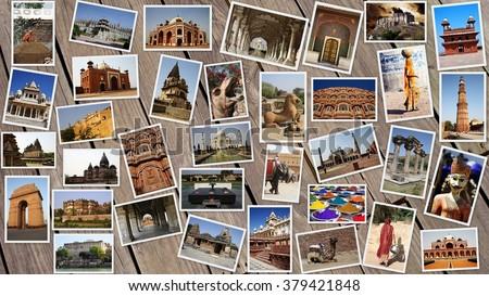 INDIA COLLAGE - stock photo