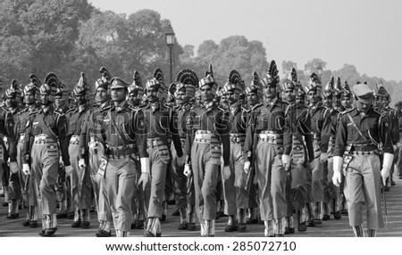 INDIA, Delhi; 20 january 2007, military parade for Indipendence Day - EDITORIAL - stock photo